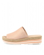 ACCENT NUDE EMBOSSED LEATHER