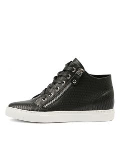 GIAZZA BLACK WHITE SOLE LEATHER