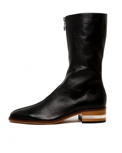 FESTUSARY BLACK NATURAL HEEL LEATHER