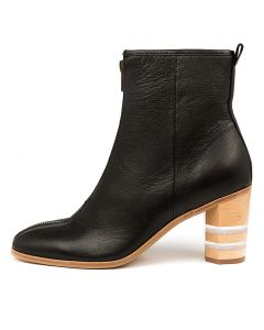 MARTIKA BLACK NATURAL HEEL LEATHER