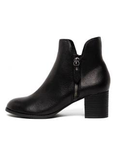 SHIANNELY BLACK BLACK HEEL LEATHER