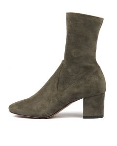 CAREFUL KHAKI STRETCH MICROSUEDE