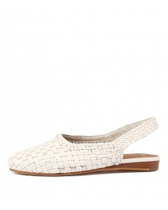 RITSA WHITE WEAVE LEATHER