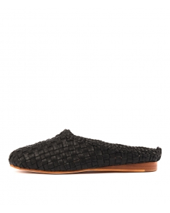 ROOLY BLACK WEAVE LEATHER