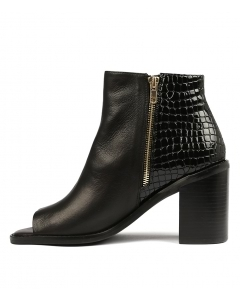 JULES BLACK LEATHER CROC PA