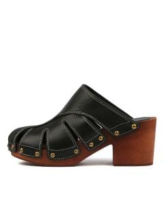 FILOMENA BLACK LEATHER