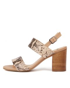 ADDISS NUDE LATTE PYTHON LEATHER