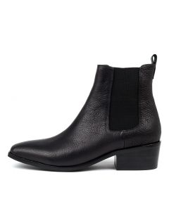 LAGOS BLACK BLACK HEEL TUMBLE LEATHER