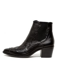 ROSSIE BLACK BLACK LEATHER SNAKE