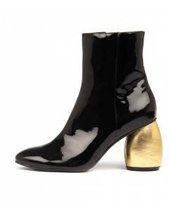 DENNY BLACK GOLD PATENT LEATHER